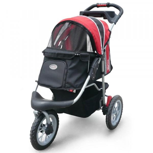 InnoPet® Comfort EFA Hundewagen für kleine Hunde schwarz/rot