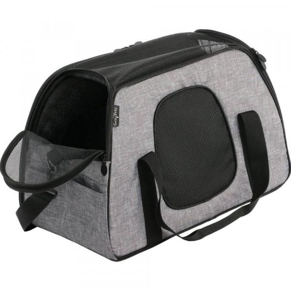 InnoPet® Carry Me Sleeper Tragetasche für Hunde schräg grau