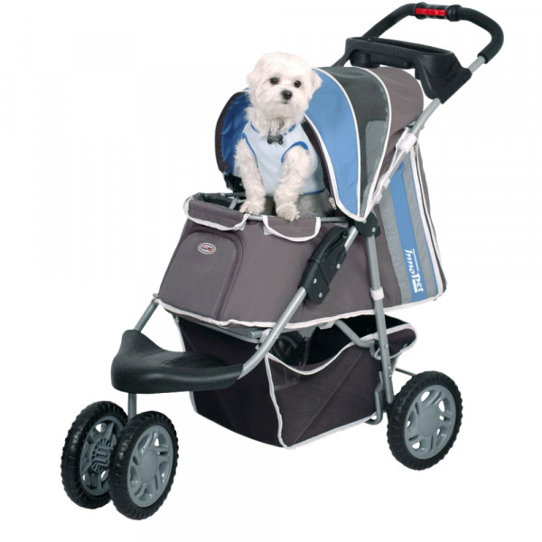 InnoPet® First Class Hundebuggy blau/grau