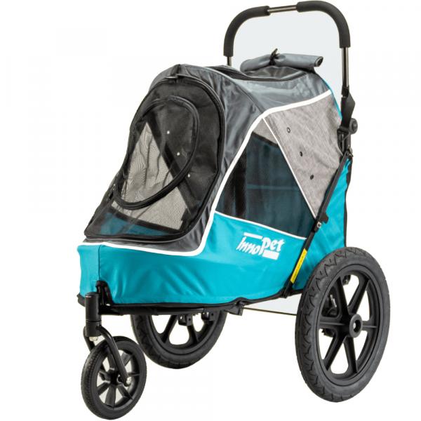InnoPet® Sporty Trailer Evolution Hundebuggy blau/grau
