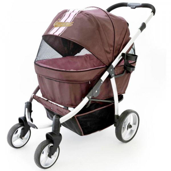 InnoPet® Retro Hundebuggy braun/pink