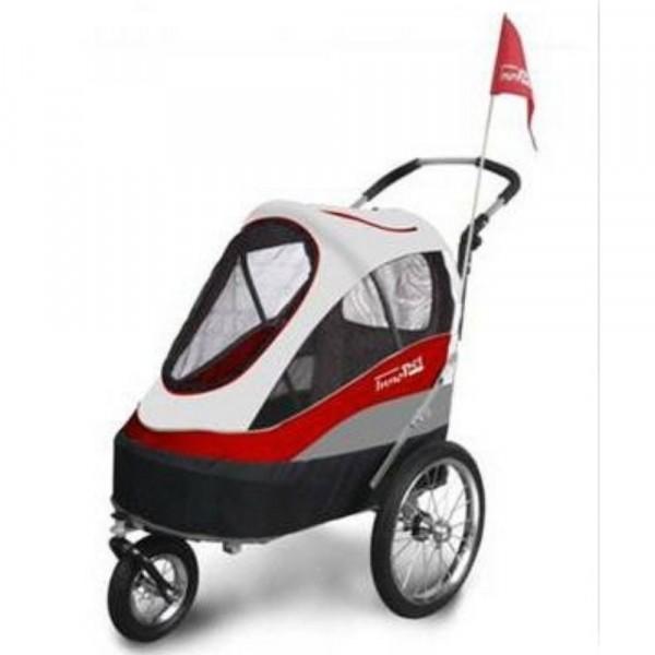 InnoPet® Sporty Trailer Hundebuggy rot/grau