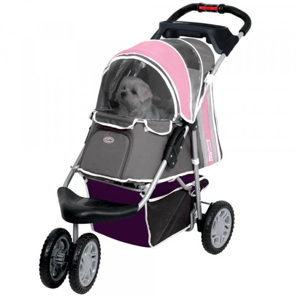 InnoPet® First Class Hundebuggy rosa/grau