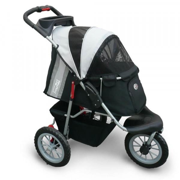 InnoPet® Comfort EFA Hundewagen für kleine Hunde schwarz/grau