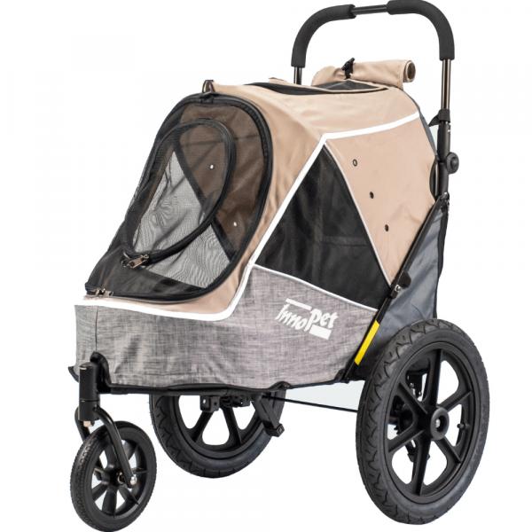 InnoPet® Sporty Trailer Evolution Hundebuggy beige/grau