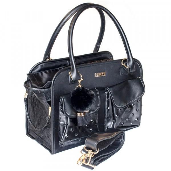 InnoPet® Traveler Jaguar Transporttasche Hund schwarz