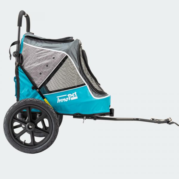 InnoPet® Sporty Trailer Evolution Fahrradanhänger Hund blau/grau