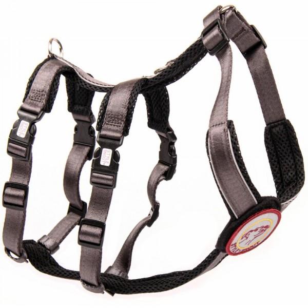 StyleSnout® Patch & Safe Sicherheitsgeschirr silber/schwarz