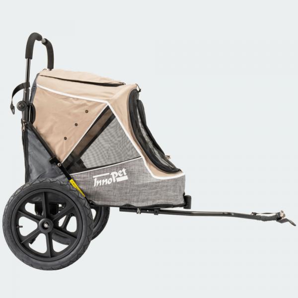 InnoPet® Sporty Trailer Evolution Fahrradanhänger Hund beige/grau
