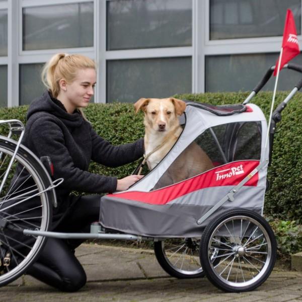 InnoPet® Sporty Trailer Hundeanhänger rot/grau