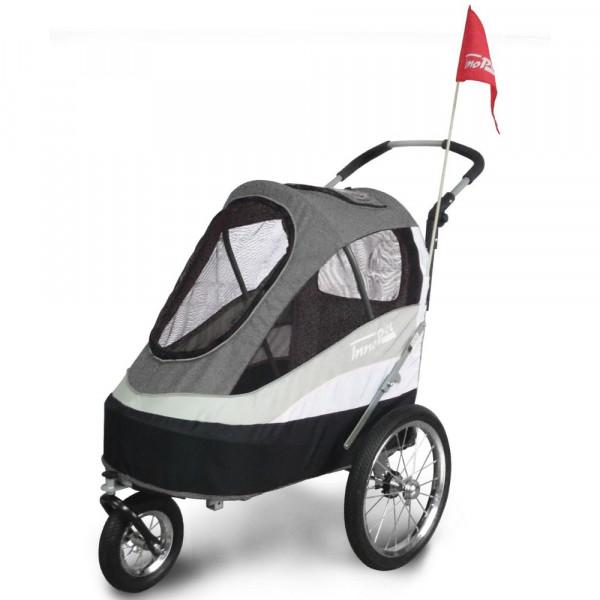 InnoPet® Sporty Trailer Anhänger für Hunde schwarz/silbergrau