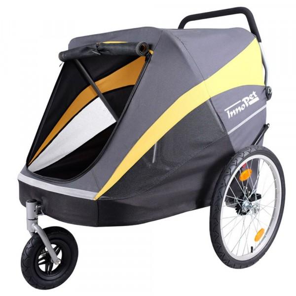 InnoPet® Hercules Trailer Hundebuggy grau/gelb